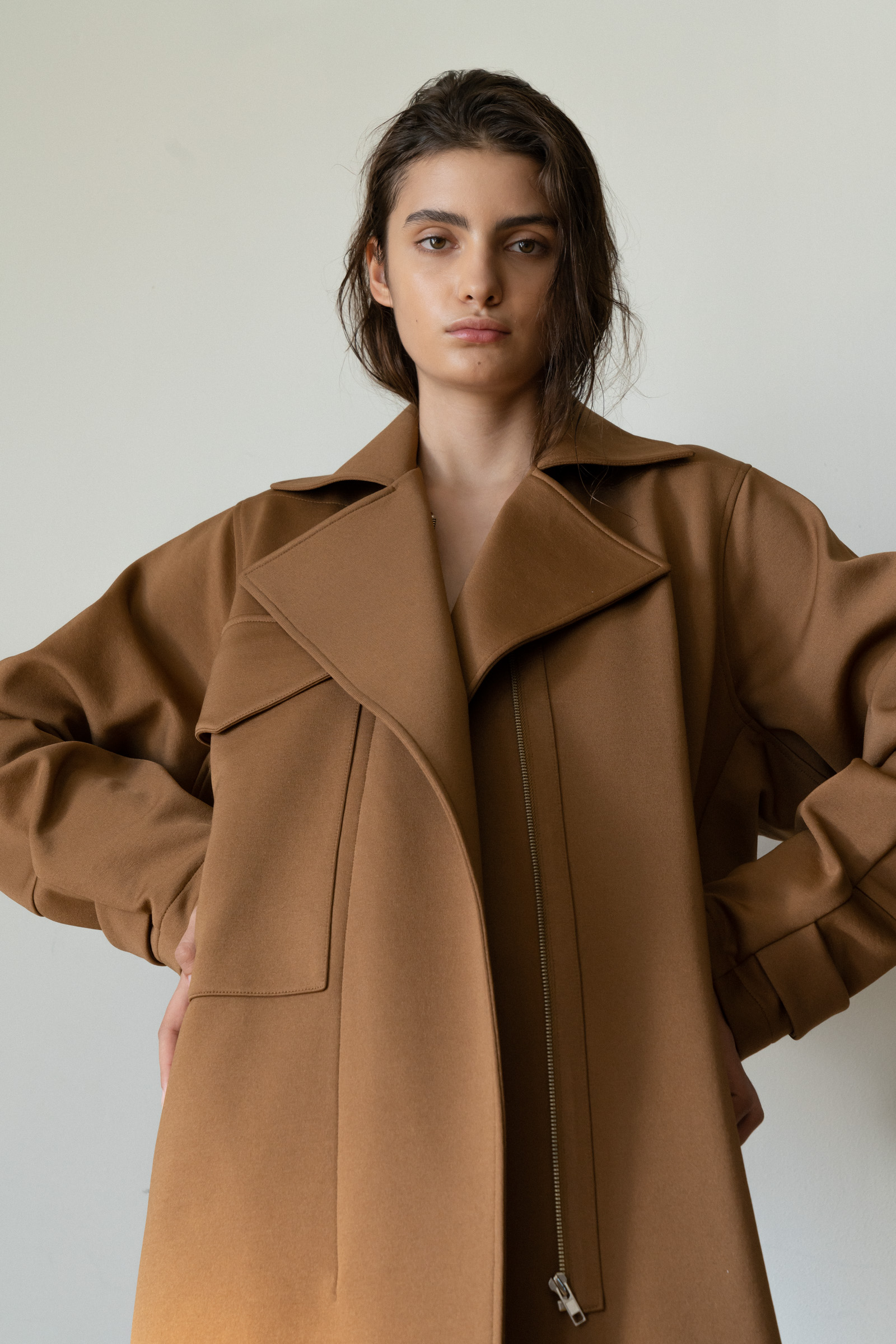 ROWE Oversized Coat _camel