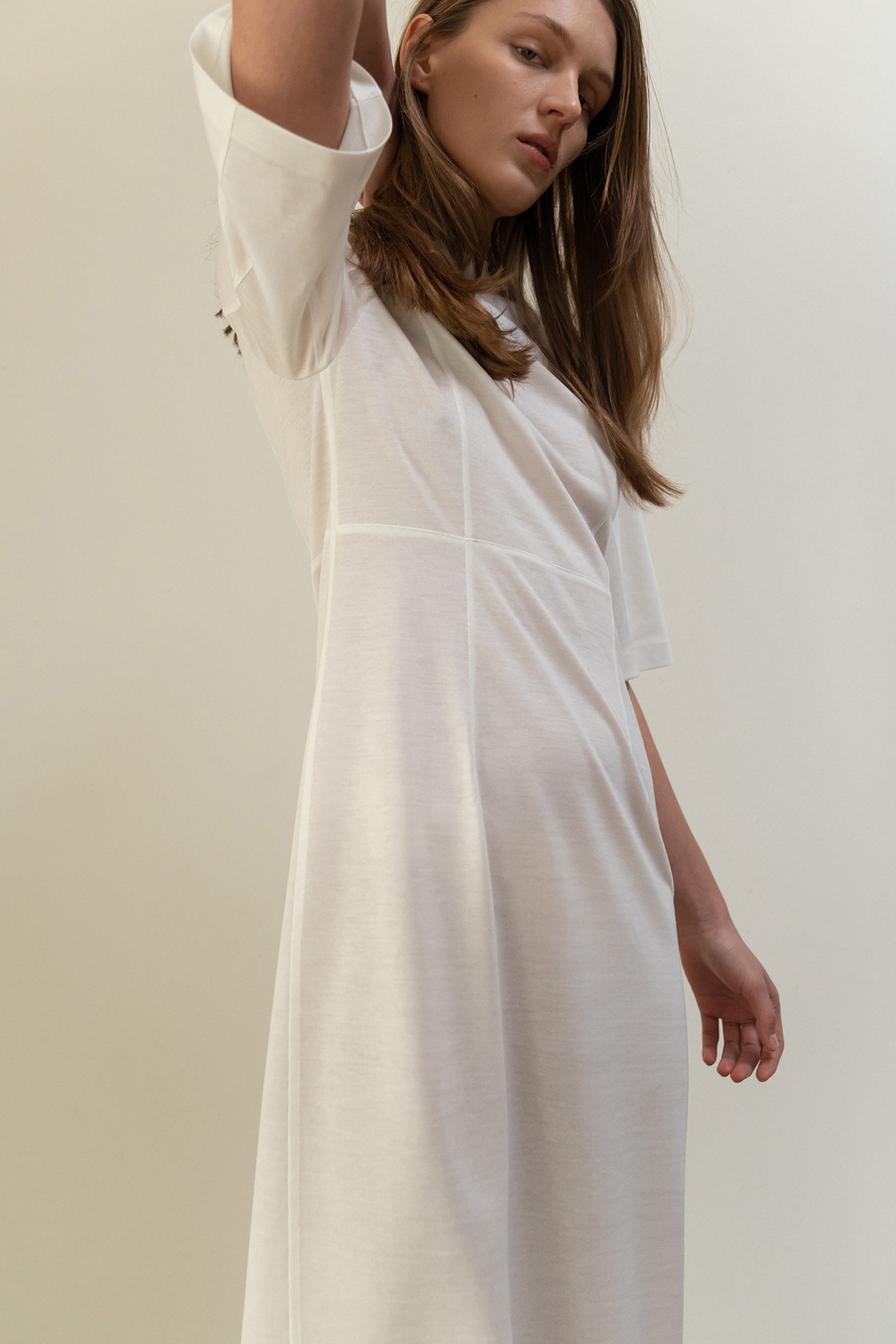 ROWE Long&Lean Dress_white