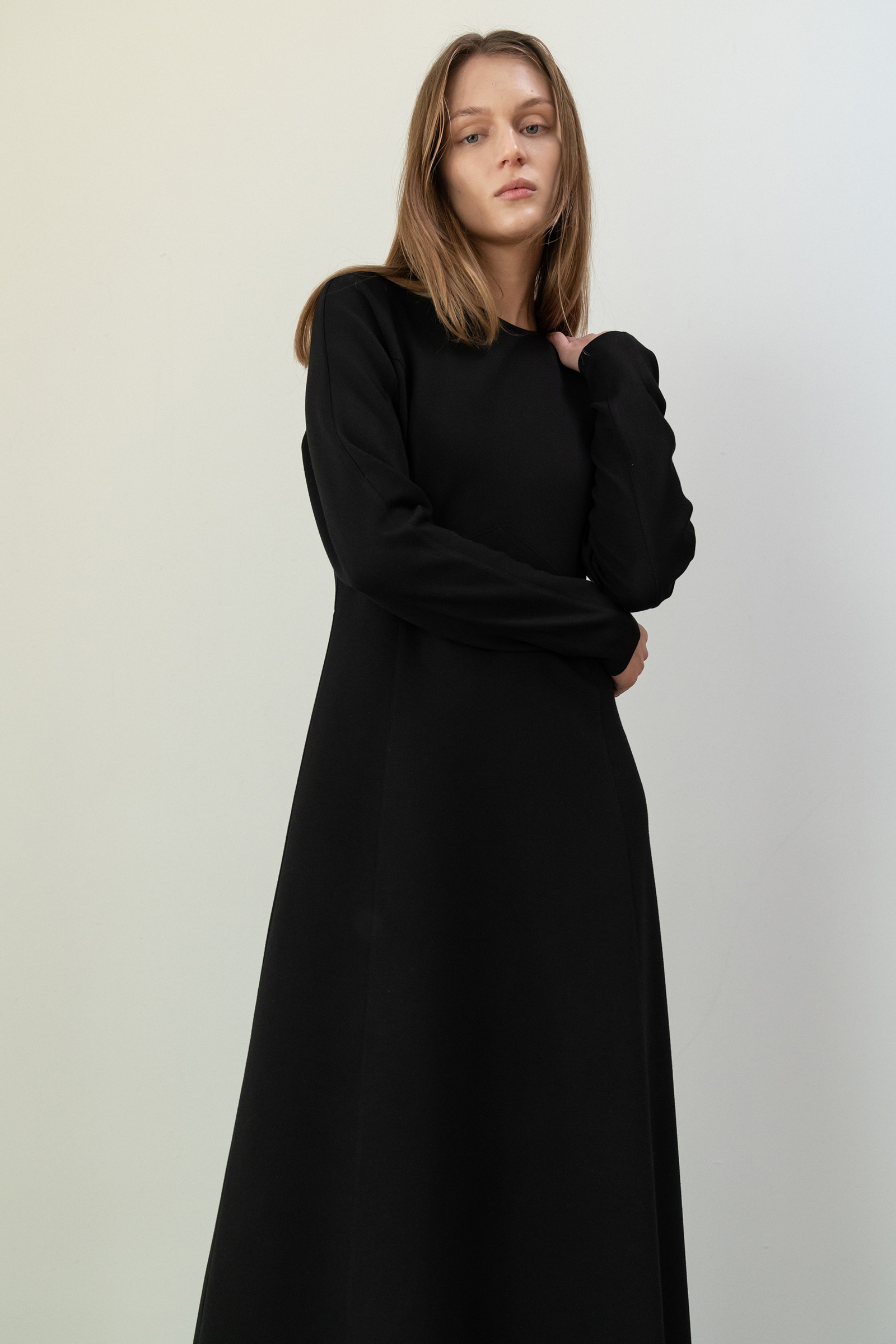 ROWE Double Jersey long Dress_black