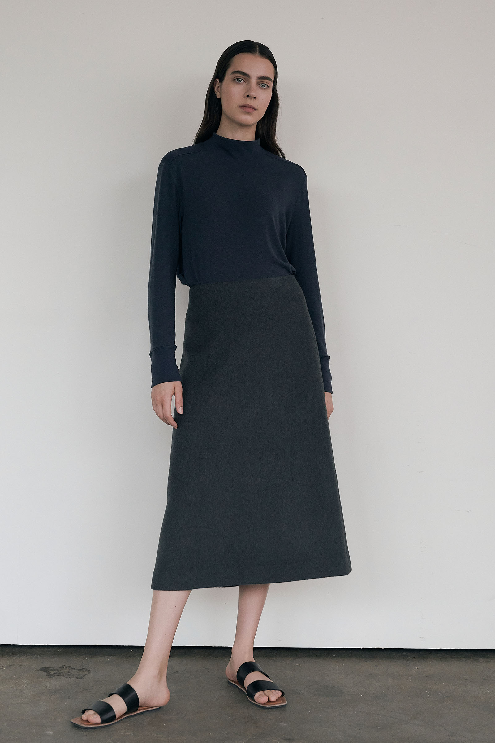 A-line Wool Skirt (Regular fit)