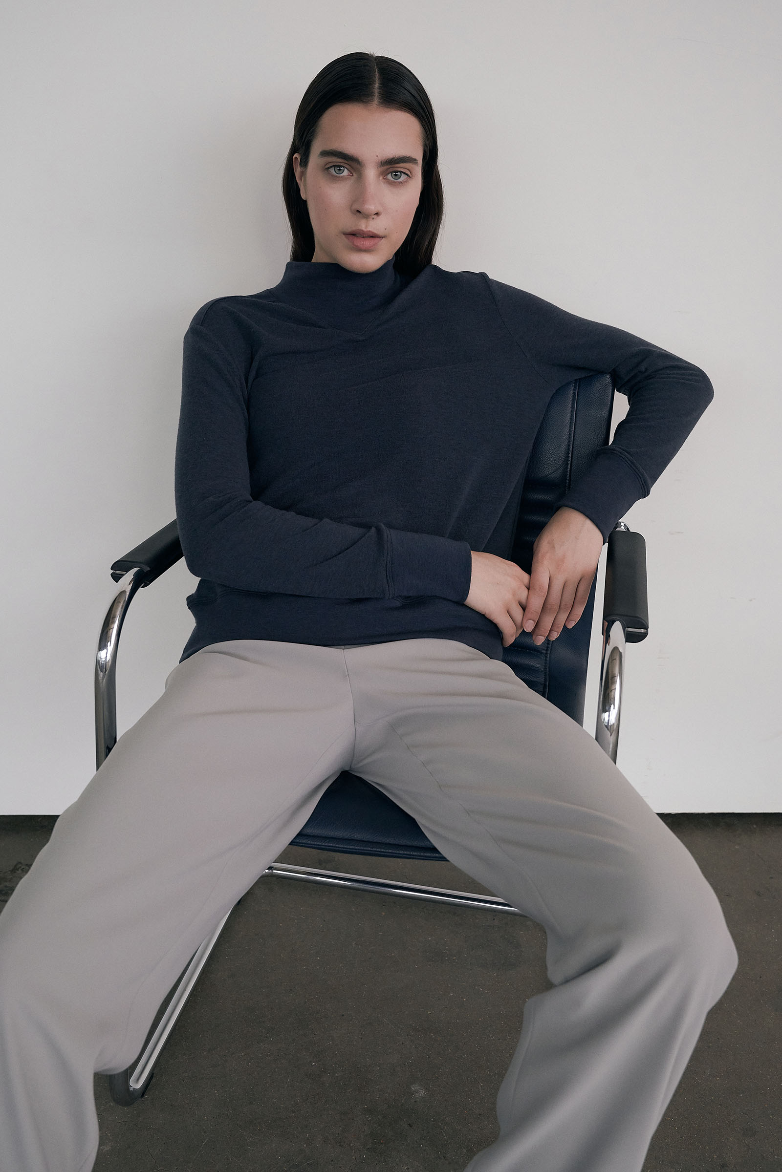 Half-turtleneck Rib pullover (Regular fit) _Blue