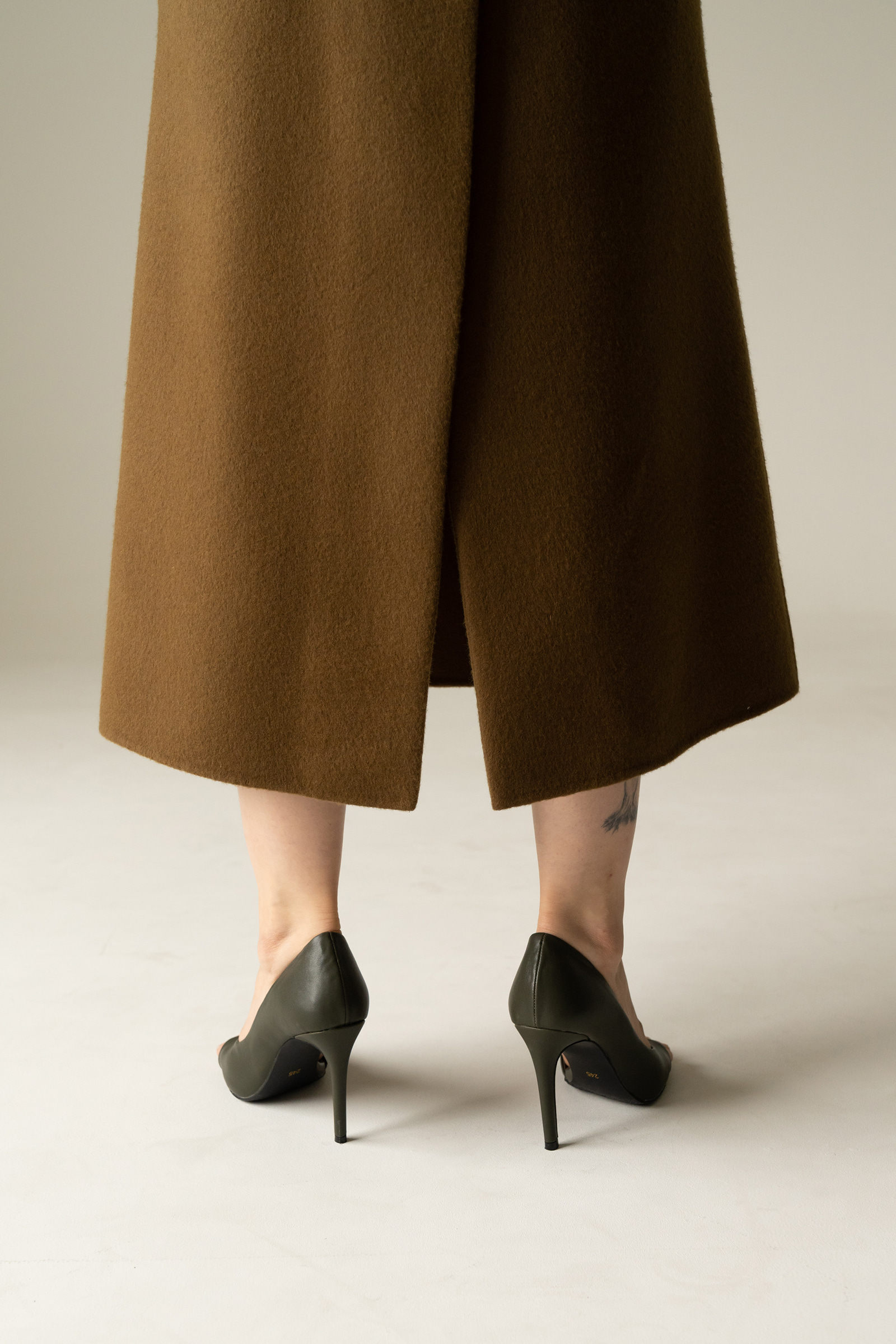 ROWE Prima wool Skirt _Khaki brown