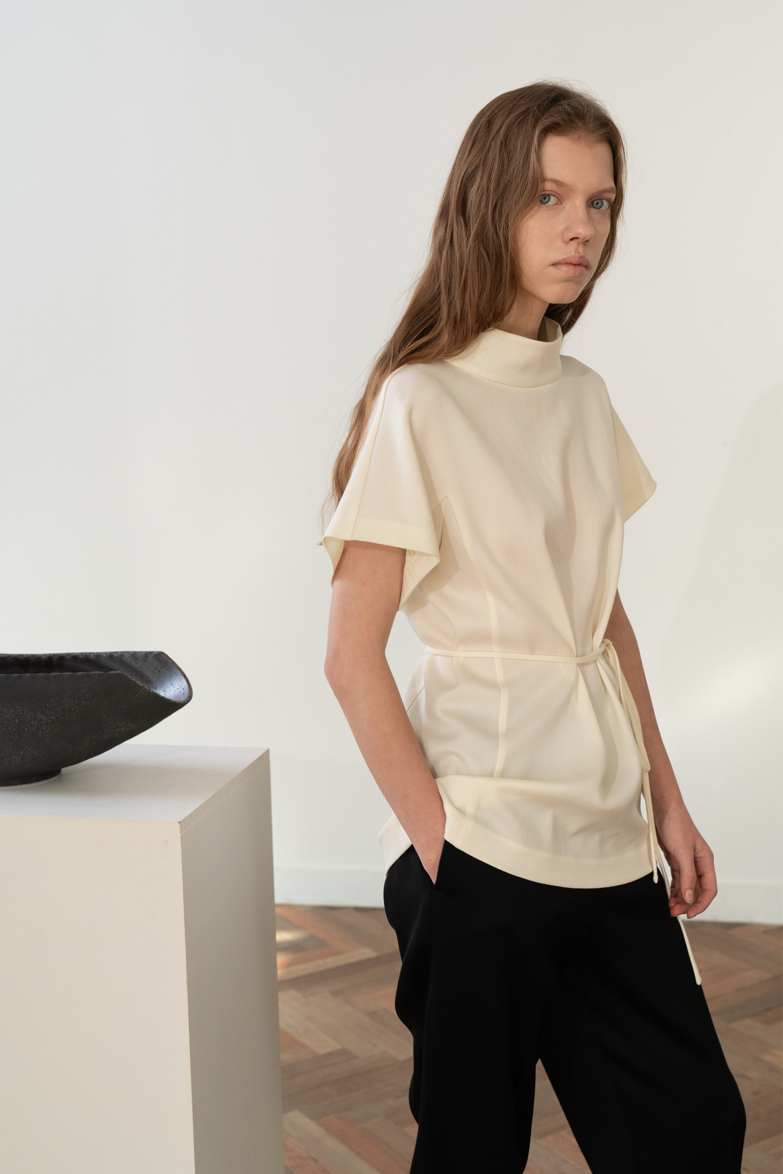 Belted Blouse _Ivory