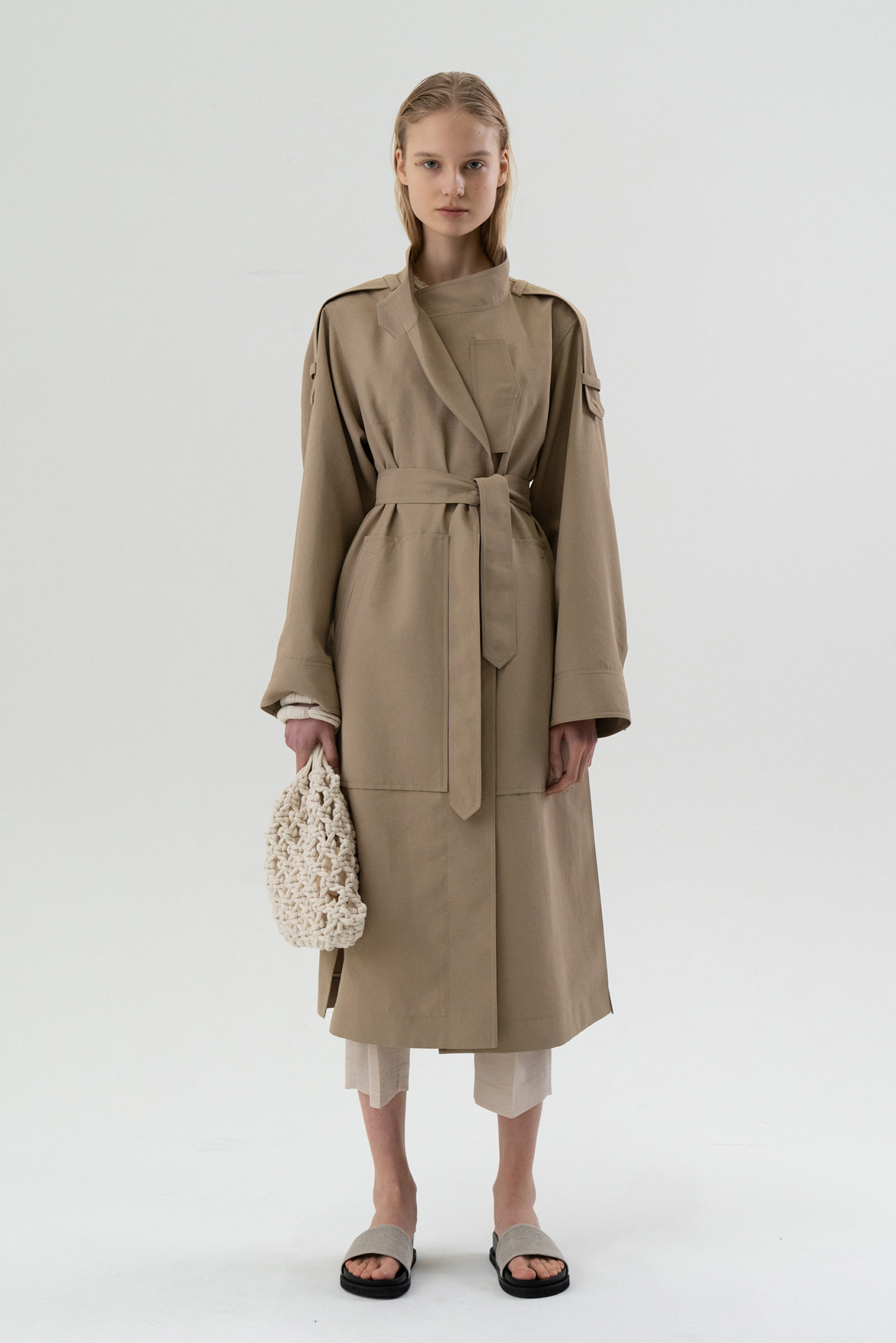 ROWE essential trench coat _beige